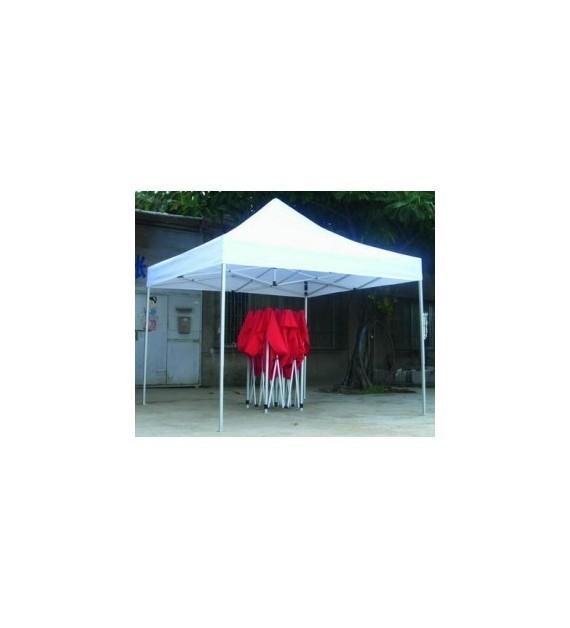 Tente pliable 3X3 : Choisissez la couleur - Rouge, Choisissez la couleur - Blanc