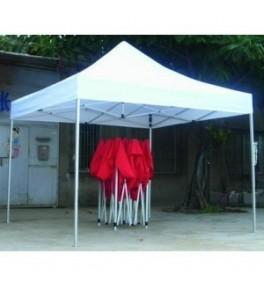 Tente pliable 3X6 : Choisissez la couleur - Rouge, Choisissez la couleur - Blanc